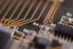 Electronic, circuit, board Stock Images