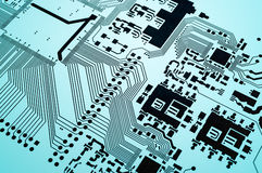 Electronic circuit board printed Royalty Free Stock Image