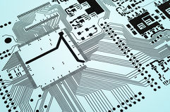 Electronic circuit board printed Stock Image