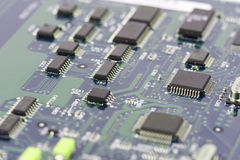 Electronic circuit board with processor Royalty Free Stock Photography