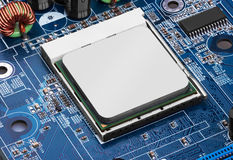 Electronic circuit board with processor Stock Photography
