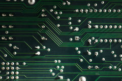 Electronic circuit board with processor Royalty Free Stock Images