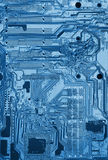 Electronic circuit board with processor X-ray Stock Image