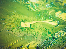 Electronic circuit board with radio components Royalty Free Stock Photography
