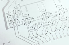 Electronic circuit board schematic. Sheet vector illustration