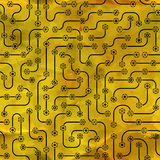 Electronic circuit board. Seamless pattern. Stock Photos