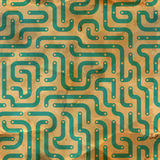 Electronic circuit board. Seamless pattern. Stock Images
