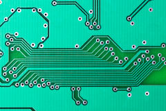 Electronic circuit board. With tracks Royalty Free Stock Image