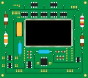Electronic circuit board. Vector illustration royalty free stock photos