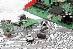 Electronic circuit boards Royalty Free Stock Photo