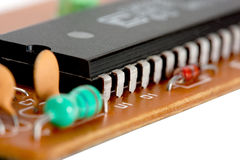 Electronic circuit chip Stock Image