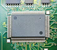 Electronic circuit chip on board Stock Photo