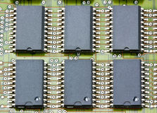 Electronic circuit chip on board Stock Photography
