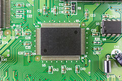 Electronic circuit chip Stock Photo