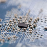 Electronic circuit chip - macro Royalty Free Stock Photography