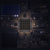 Electronic circuit chip on PC board Stock Photos