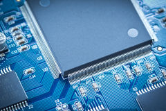 Electronic circuit chip on pcb board Stock Images