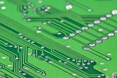 Electronic circuit close-up Royalty Free Stock Photos