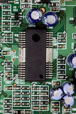 Electronic circuit close-up Stock Photo