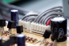 Electronic circuit close-up Stock Image