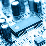 Electronic circuit close-up Royalty Free Stock Images