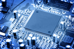 Electronic circuit close-up Royalty Free Stock Photography