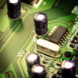 Electronic circuit close-up Stock Photos