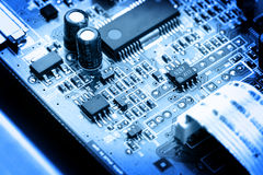 Electronic circuit close-up Stock Images