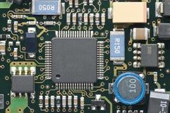 Electronic circuit closeup Stock Images