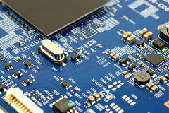 Electronic circuit. And component background Stock Photography