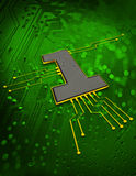 Electronic circuit Concept Royalty Free Stock Photography