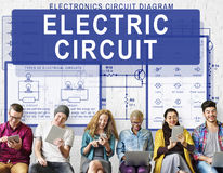 Electronic Circuit Electricity Voltage Concept Stock Image