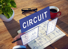 Electronic Circuit Electricity Voltage Concept Royalty Free Stock Photography