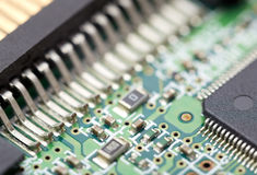 Electronic circuit. Fragment of the electronic circuit Stock Photos