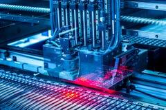 Electronic circuit machine production royalty free stock photos