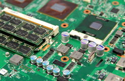 Electronic Circuit - Motherboard - microprocessor Stock Image