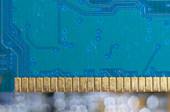 Electronic circuit plate Royalty Free Stock Images