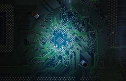 Electronic circuit plate Stock Images
