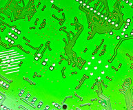 Electronic circuit plate. Image of green electronic circuit plate Royalty Free Stock Photos