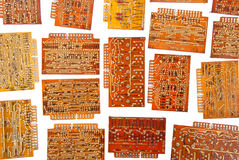 Electronic circuit plates Stock Images