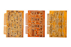 Electronic circuit plates Royalty Free Stock Image