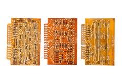 Electronic circuit plates Royalty Free Stock Image