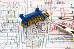 Electronic circuit Stock Photo