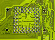 Electronic circuit processor socket. Electronic circuit close up processor socket Royalty Free Stock Image