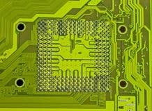 Electronic circuit processor socket Royalty Free Stock Image