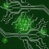 Electronic Circuit Represents Hi Tech And Backgrounds Stock Image