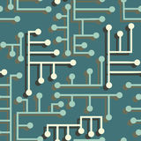 Electronic circuit seamless Royalty Free Stock Image