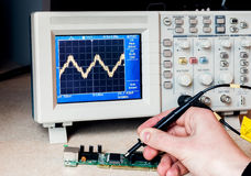 Electronic circuit testing Stock Images
