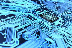 Electronic circuit. Very high resolution rendering of an electronic circuit royalty free illustration