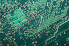 Electronic Circuite Board. Close up shot of an Electronic Circuit Board Stock Photo